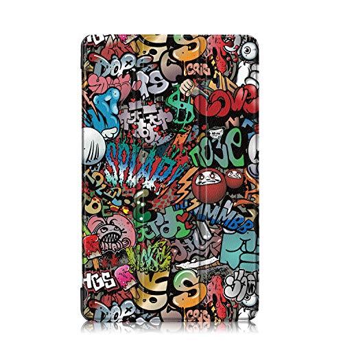 custodia tablet samsung a6 Xuanbeier Custodia Ultrasottile per Samsung Galaxy Tab A 10.1 2016 A6 T580 T585 con la Funzione Stand,Graffiti