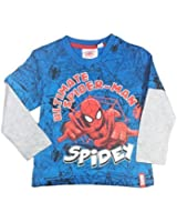 Spiderman Langärmliges Oberteil T-Shirt blau
