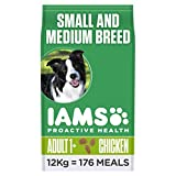 Iams ProActive Health Complete and Balanced Dog Food with Chicken for Small and Medium Breeds, 12 kg