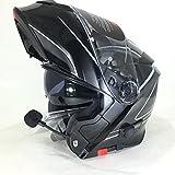 Vcan V271Lightning Casque de moto modulaire bluetooth à rabat (M)