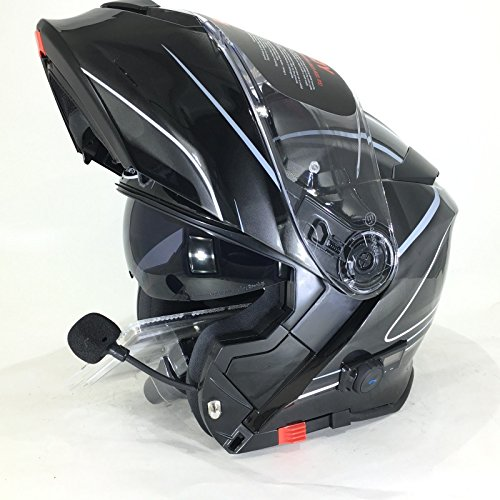 VCAN V271 Lightning Modular para motocicleta Flip Up de Bluetooth Casco
