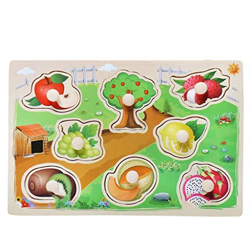 Plüsch Bildung Squishy Spielzeug aufblasbares Spielzeug im Freien Spielzeug,Kinder Puzzle Griff Board Puzzle Geburtstagskind Mädchen Pädagogisches Spielzeug ()