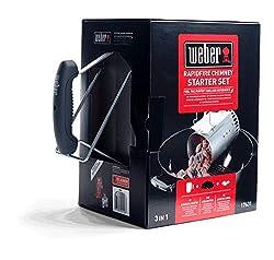 Weber® Grillstarterset für Holzkohlegrill, 3 in 1: Anzündkamin, 2 kg Briketts, 3 Anzündwürfel
