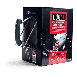 Weber 17631-Set Chimenea 2 Kg de briquetas + 6 Pastillas de Encendido Blancas, INOX