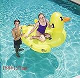 Swim Party Toys Zattera Gonfiabile Piscina Mare Spiaggia Acqua Piccola Cavalcata Gialla D'Anatra 188X127Mm Gonfiabile Acqua Balsa Divano Galleggiante con Processo Divano Gonfiabile Sedile Alla Deriva