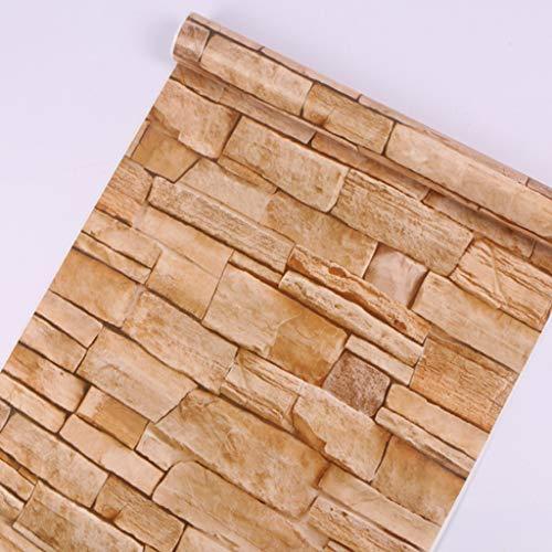 JOYKK 3D imitación ladrillo Piedra Impermeable PVC