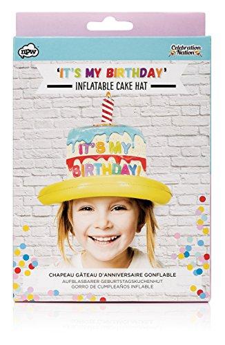 Inflable sombrero de cumpleaños-Kids. Todo el mundo debería sentir extra especial en su cumpleaños y este Wacky inflable sombrero permitirá que todo el mundo sepa. Hábilmente diseñado para eliminar en segundos para crear una deliciosa tarta de cump...