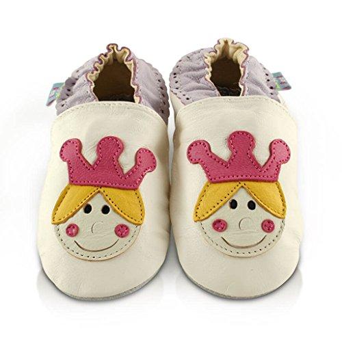 e1edf21629139 Snuggle Feet - Chaussons Bébé en Cuir Doux - 0-6 Mois