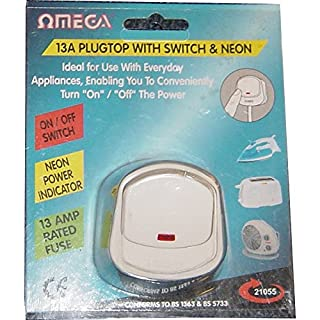 13A switched plug with neon 21055