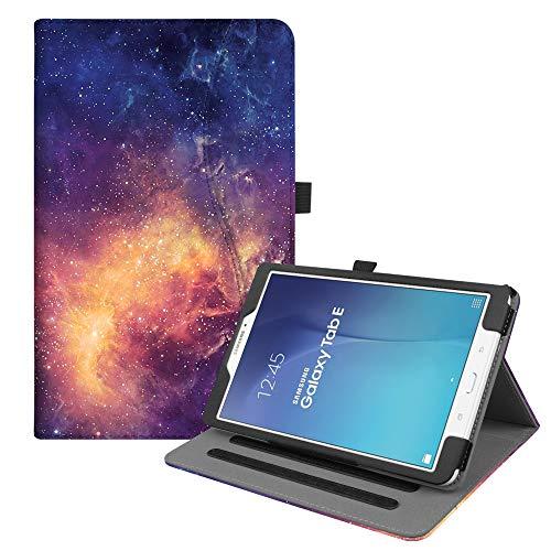 Fintie Hülle für Samsung Galaxy Tab E 9.6 T560N / T561N (9,6 Zoll) Tablet-PC - Multi-Winkel Betrachtung Kunstleder Schutzhülle Etui mit Dokumentschlitze & Auto Schlaf/Wach Funktion, Die Galaxie