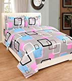 #4: MultiTex 140 TC Polycotton Double Bedsheet with 2 Pillow Covers