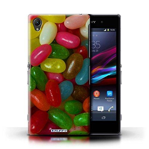 Kobalt® Imprimé Etui / Coque pour Sony Xperia Z1 / Roses conception / Série Bonbons Jelly Beans