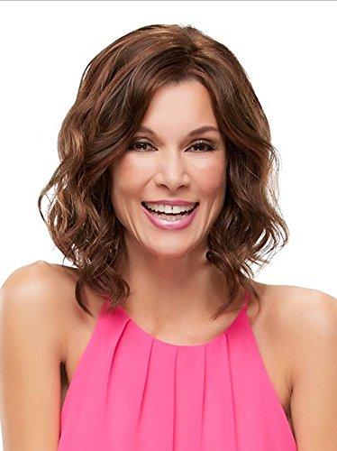 Meydlee Perücken Moderne Bob kurze lockige lose Welle voll Perücke für weiße Frauen mit natürlichen Haaransatz , picture color