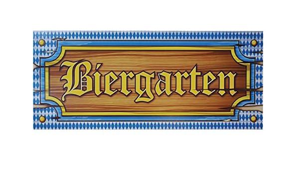 Straßenschild Deko Banner Oktoberfest Schild Biergarten 180 x 40cm Reklamebanner