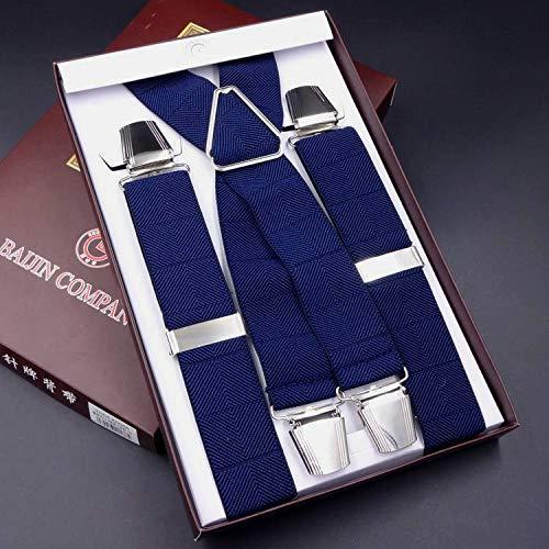 SUPOOGO4 Clip Cinturino da Uomo Cinturino Super Aderente Antiscivolo Elastico Quattro Calzettoni da Polso Cinturino Incrociato Feinile Cinturino