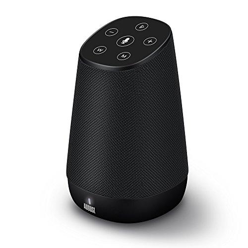 Multiroom WI-Fi Laustprecher mit Bluetooth und Amazon Alexa Sprachservice - August Venus - Kompatibel mit Android und iOS (15 Watt, WLAN, Bluetooth, Aux Eingang, Freisprechen, bis zu 9h Akku)