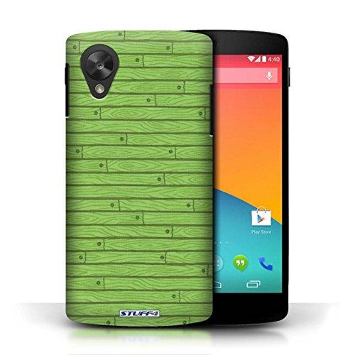 Kobalt® Imprimé Etui / Coque pour LG Google Nexus 5/D821 / Orange conception / Série Motif Bois Vert
