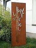 Garten Sichtschutz aus Metall Rost Gartenzaun Gartendeko edelrost Sichtschutzwand 031663