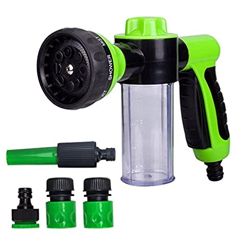 Ailiebhaus Hose Nozzle Hand-Held Sprayer Shower, 8 Adjustable Patterns for Garden Car Pet
