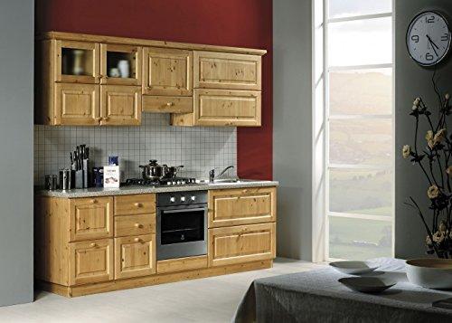 Arredamenti rustici cucina rustica in legno massello l240-colore miele