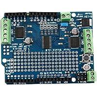 DoMoment Motor Azul Durable/Paso a Paso/Servo / Robot Shield para Arduino v2 con PWM Driver Shield 68 x 52 x 20 mm