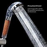 Uomere filtración alcachofa de ducha para piel seca y pelo iónica de ahorro de agua de alta presión de mano alcachofa de ducha