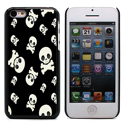 Graphic4You Pirate Flag with Skull Made of Words Design Harte Hülle Case Tasche Schutzhülle für Apple iPhone 5C Design #5
