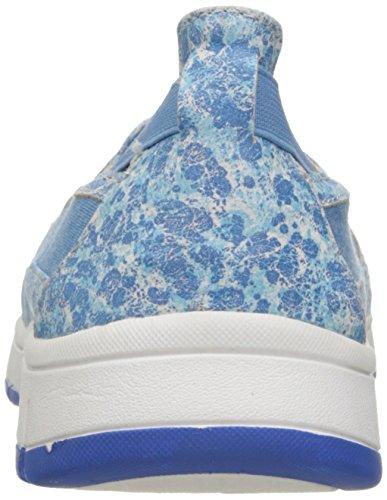 Easy Street Kacey Damen Schmal Rund Stoff Slipper Blue/Blue Print