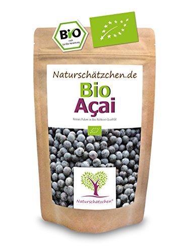 Bio Acai Pulver (Acaipulver) in geprüfter Bio-Qualität (DE-ÖKO-22) (100g) - Bio Superfood