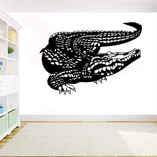 Geiqianjiumai Krokodil Vinyl Hauptdekoration Tier Tattoo Zimmer Wandbild entfernbaren Aufkleber 141x85,5 cm