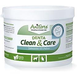 AniForte Denta Clean and Care Zahnstein-EX Pulver 300g für Hunde und Katzen, Zahnpflege für weiße Zähne, Frischer Atem, Zahnbelag und Plaque einfach vorbeugen, Auch für die Welpen Mundhygiene
