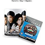 Mc Sid Razz Official Friends - Tv Series Gift Set/Birthday Gift/Return Gift - Combo Pack Of 2, 1 Straw Mug + 1 Fridge Magnet With Bottle Opener Quotes, Licensed By Warner Bros, USA