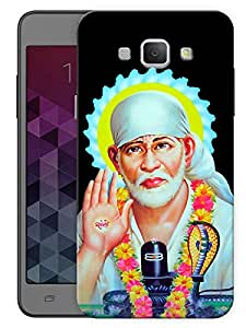 """Humor Gang Shri Sai Baba Portrait - - Indian Hindu God Printed Designer Mobile Back Cover For """"Samsung Galaxy A8"""" By Humor Gang (3D, Matte Finish, Premium Quality, Protective Snap On Slim Hard Phone Case, Multi Color)"""