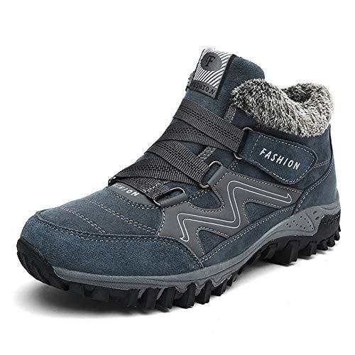 Zapatillas Deportivas de Mujer Hombre Invierno Senderismo Zapatos de Trekking Botines Nieve Pelaje Outdoor Trekking Botas Negro Gris Morado 35-46...