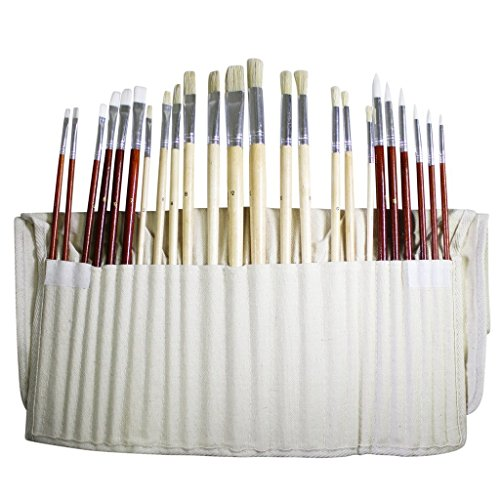 24-piece-set-of-fine-art-paintbrushes-by-kurtzy-large-artists-paint-brush-set-in-a-canvas-storage-ca