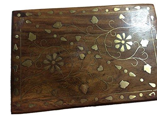 spezielle-geschenke-am-karfreitag-holz-schmuck-box-messing-inlay-einzigartige-blumen-und-blatt-golde