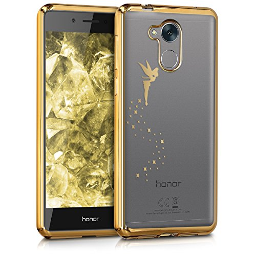 kwmobile Huawei Honor 6C Hülle - Handyhülle für Huawei Honor 6C - Handy Case in Gold Transparent