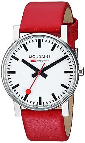 Mondaine Men's Swiss Quartz Watch with White Dial Analogue Display