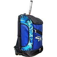 HeadTurners Pro Badminton Kitbag Backpack Style Blue Camo/Black with Shoe Pocket