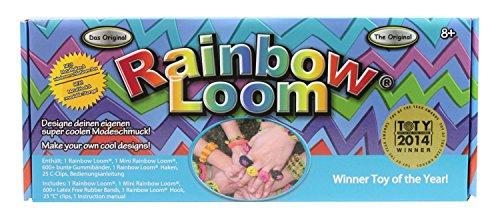 (Rainbow Loom RLST393 - Starterset mit Metallhaken, Webrahmen für Gummibänder)