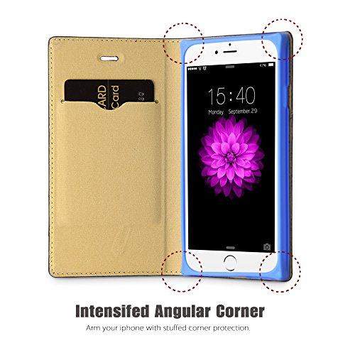 Coque Iphone 6S, Belk on Motif Big Protection d'angle pour 2015Apple iPhone 6S, Similicuir, black suits match, iPhone 6s blue carpet match