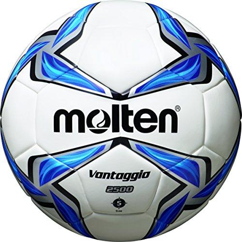 molten Fußball F5V2500, Weiß/Blau/Silber, 5, F5V2500