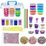 Luxurila DIY Slime Kit, Ungiftige Schleim Kinder Spielzeug Kristall Schlamm Plastilin Clay