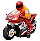 Toyshine Remote Control Motorcycle with 360 Degree Movement, Blue/Red