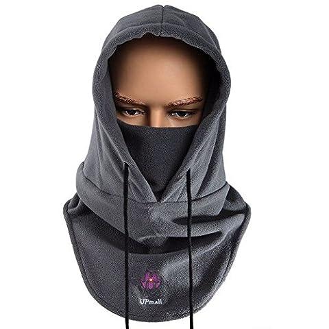 Tactique Masque à masque facial à balaclava Casquette à capuchon résistant au vent (Gris)