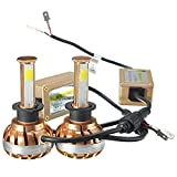 Lampe Auto, Ourmall H1 Videoleuchte 120 W 6000 K 12000lm COB LED DC 12 V weiß Leuchtmittel Lampe LED Lampe LED Kit, Gold …