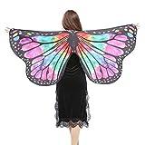 Hot !!! KIMODO Weiche Stoff Schmetterlingsflügel Schal Fee Damen Nymph Pixie Kostüm Zubehör (L)