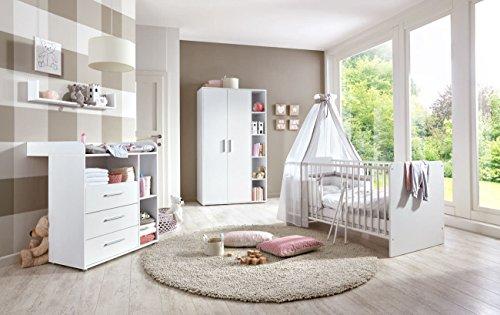 Babyzimmer Babymöbel Kinderzimmer komplett Set KIM 1 in Weiß