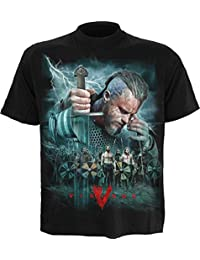 Spiral Men - Vikings - Battle - Vikings T-Shirt Black