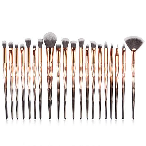 RYTEJFES 20 Stück Pinselset Professionelle Makeup Pinsel für Berufsverfassungs Kosmetikpinsel Lidschatten Gesichtspinsel Eyeliner Weißes Himmelblau Mode -